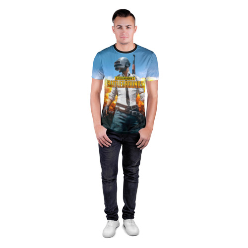 Мужская футболка 3D спортивная Playerunknown`s battlegrounds 1 Фото 01