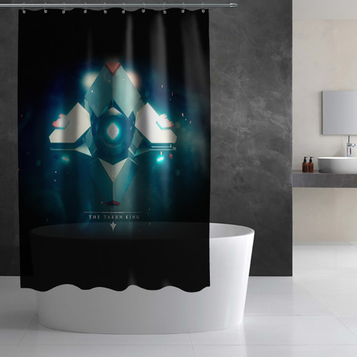 Штора 3D для ванной Destiny 4 Фото 01