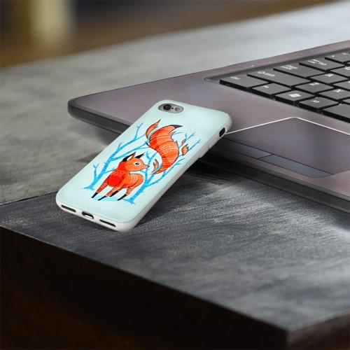 Чехол для Apple iPhone 8 силиконовый глянцевый  Фото 03, Лиса
