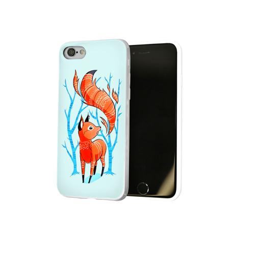 Чехол для Apple iPhone 8 силиконовый глянцевый  Фото 02, Лиса