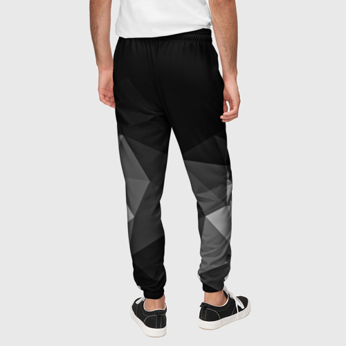 Мужские брюки 3D Abstract gray Фото 01