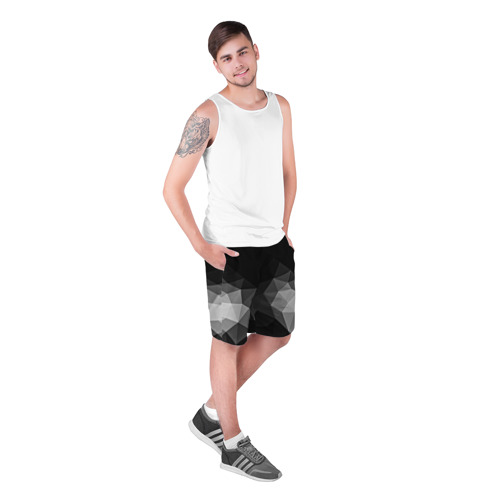 Мужские шорты 3D  Фото 03, Abstract gray