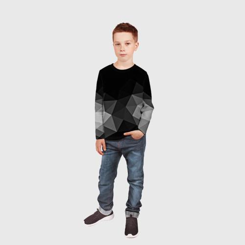 Детский лонгслив 3D Abstract gray Фото 01