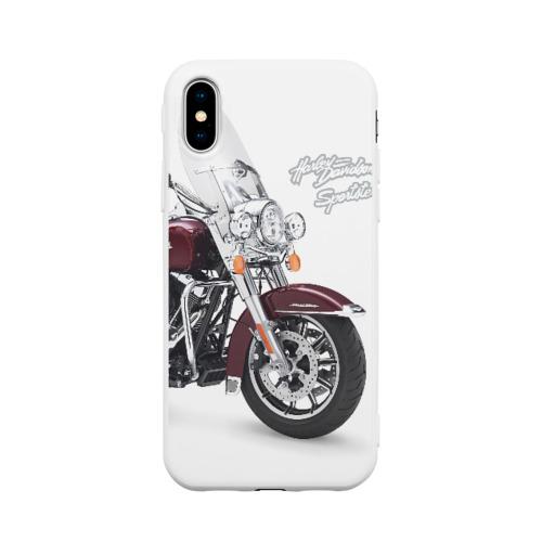 Чехол для Apple iPhone X силиконовый матовый Harley-Davidson Фото 01