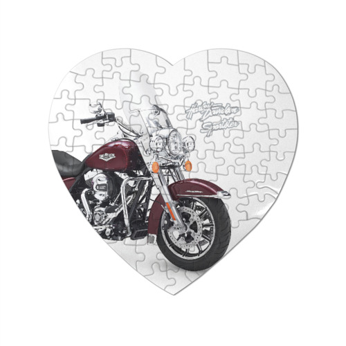 Пазл магнитный сердце 75 элементов Harley-Davidson Фото 01