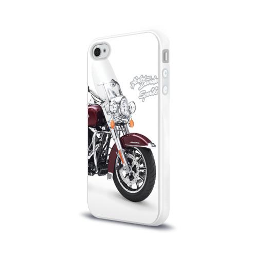 Чехол для Apple iPhone 4/4S силиконовый глянцевый Harley-Davidson Фото 01
