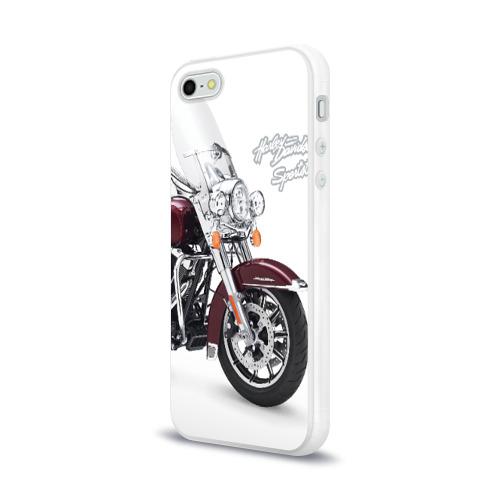 Чехол для Apple iPhone 5/5S силиконовый глянцевый Harley-Davidson Фото 01