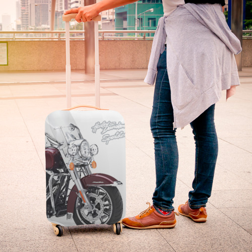 Чехол для чемодана 3D Harley-Davidson Фото 01