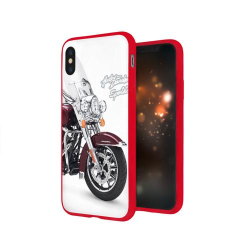 Чехол для Apple iPhone X силиконовый глянцевый Harley-Davidson Фото 01