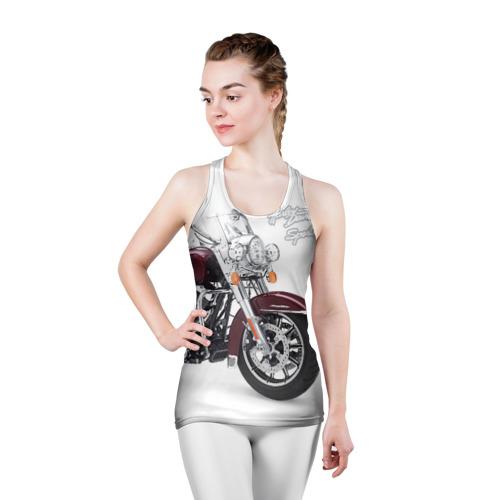 Женская майка 3D спортивная Harley-Davidson Фото 01