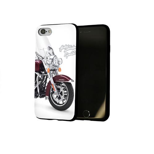 Чехол для Apple iPhone 8 силиконовый глянцевый Harley-Davidson Фото 01