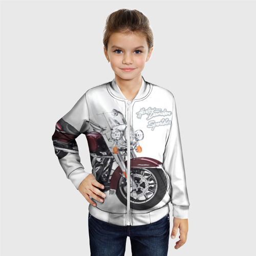 Детский бомбер 3D Harley-Davidson Фото 01