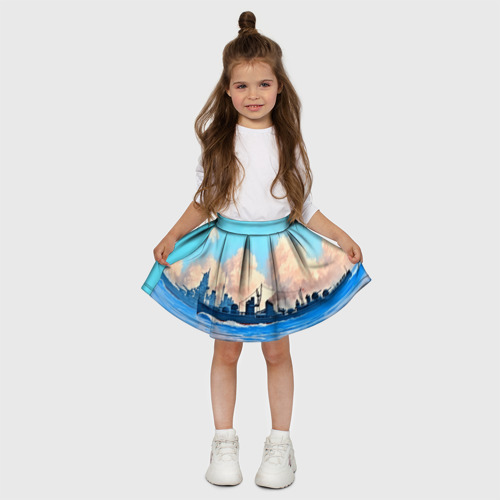 Детская юбка-солнце 3D  Фото 03, Корабль