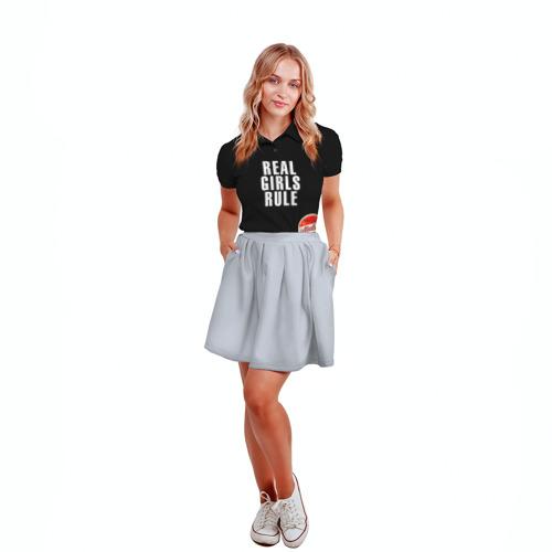 Женская рубашка поло 3D  Фото 04, Девчонки рулят black