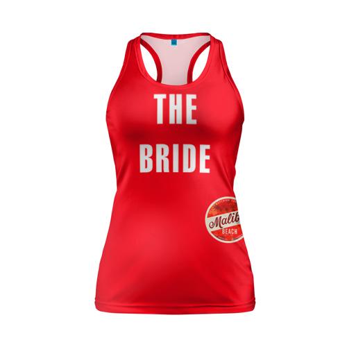 Женская майка 3D спортивная невеста в красном