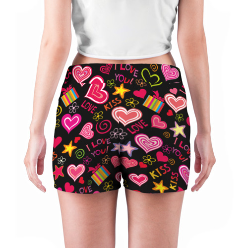 Женские шорты 3D  Фото 04, Love