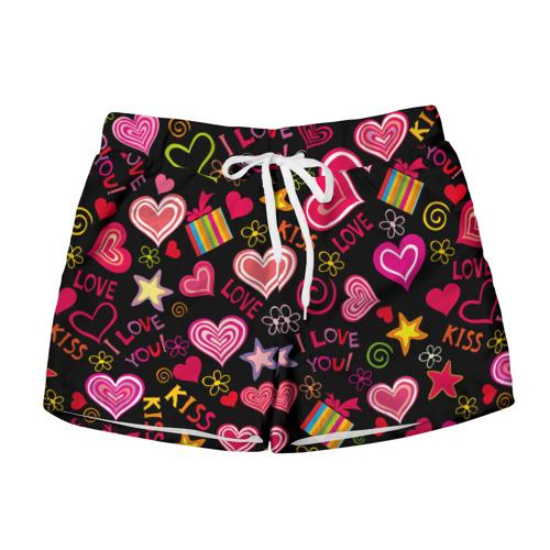Женские шорты 3D  Фото 01, Love