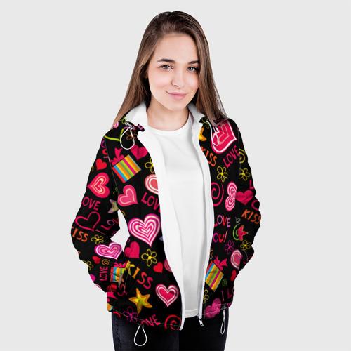 Женская куртка 3D  Фото 04, Love