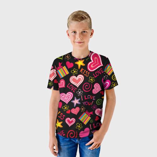 Детская футболка 3D Love