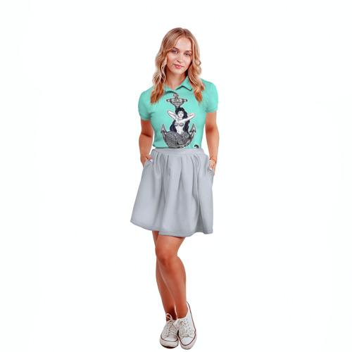 Женская рубашка поло 3D  Фото 04, Mermaid blue