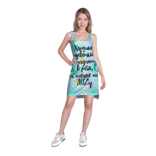 Платье-майка 3D  Фото 03, На Ibiz`у blue