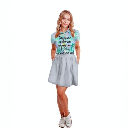 Женская рубашка поло 3D  Фото 04, На Ibiz`у blue