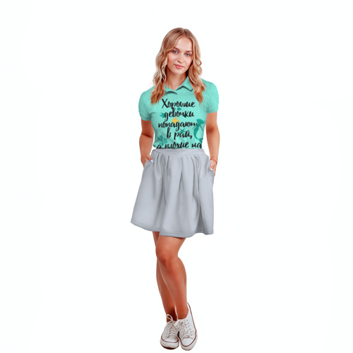 Женская рубашка поло 3D  Фото 04, На Ibiz`у blue1