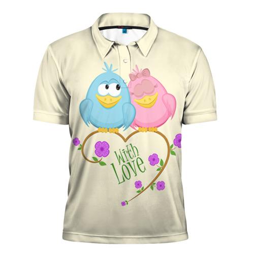 Мужская рубашка поло 3D Воробушки Ж