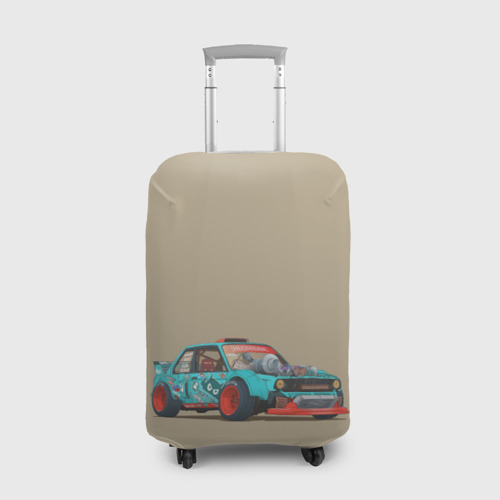 Чехол для чемодана 3D Гонка 2 Фото 01