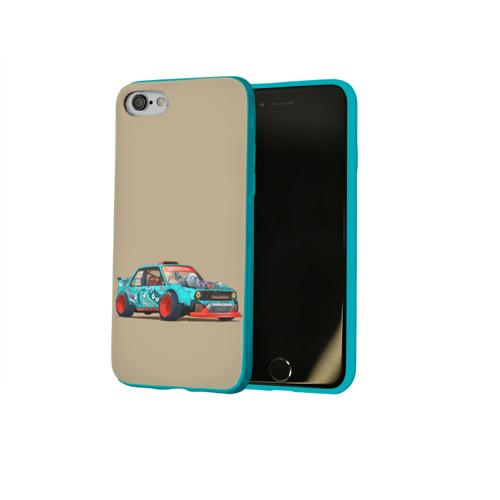 Чехол для Apple iPhone 8 силиконовый глянцевый Гонка 2 Фото 01
