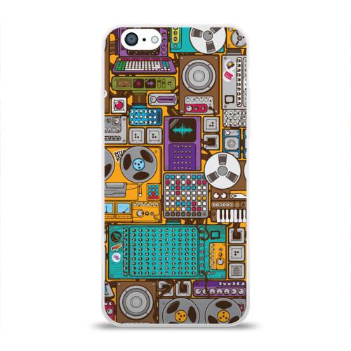 Чехол для Apple iPhone 6 силиконовый глянцевый  Фото 01, Музыка
