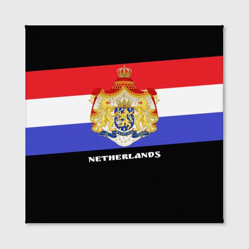 Холст квадратный  Фото 02, Флаг и герб Нидерланды