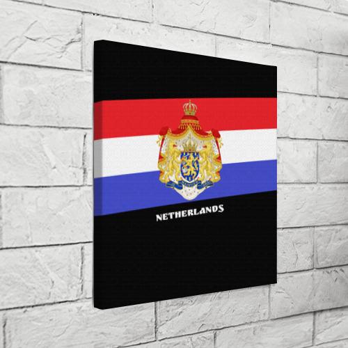 Холст квадратный  Фото 03, Флаг и герб Нидерланды