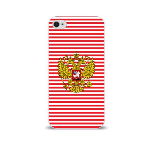 Чехол для Apple iPhone 4/4S soft-touch  Фото 01, Тельняшка ВВ и герб РФ
