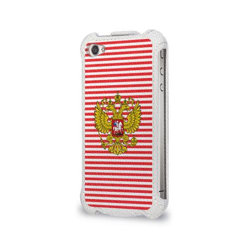 Чехол для Apple iPhone 4/4S flip  Фото 03, Тельняшка ВВ и герб РФ