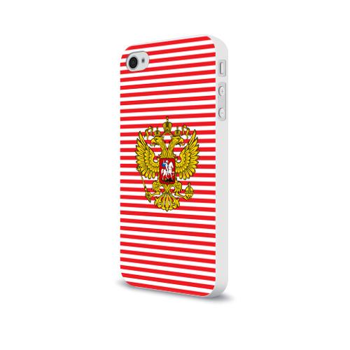 Чехол для Apple iPhone 4/4S soft-touch  Фото 03, Тельняшка ВВ и герб РФ