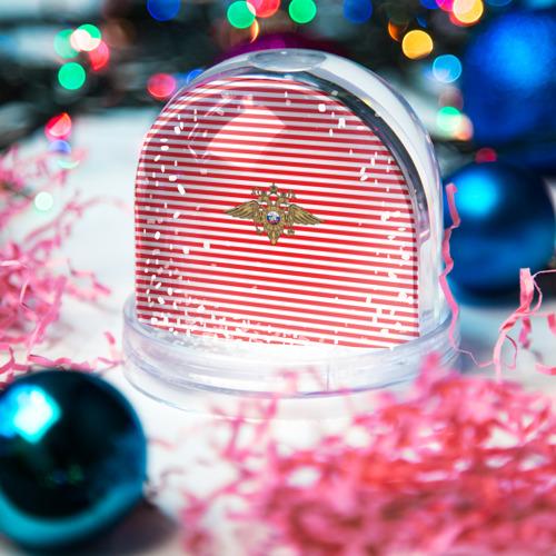 Водяной шар со снегом  Фото 03, Тельняшка ВВ и герб МВД