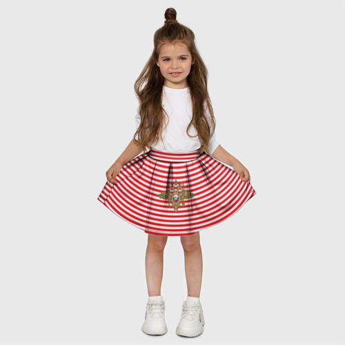 Детская юбка-солнце 3D  Фото 03, Тельняшка ВВ и герб МВД