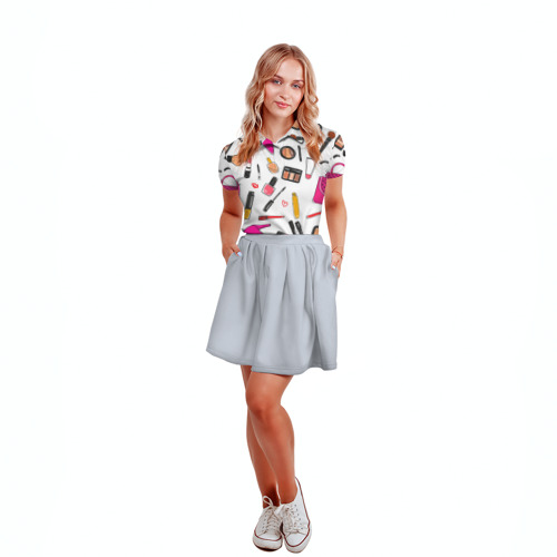 Женская рубашка поло 3D  Фото 04, Барби 9