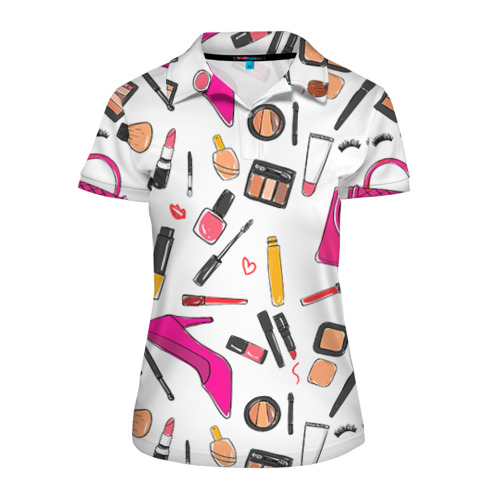 Женская рубашка поло 3D  Фото 01, Барби 9
