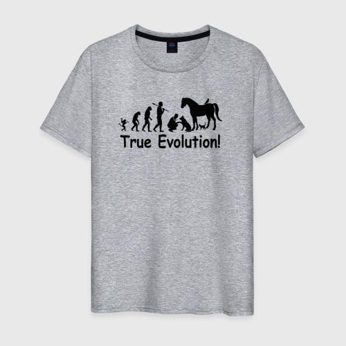 Мужская футболка хлопок Настоящая эволюция Фото 01