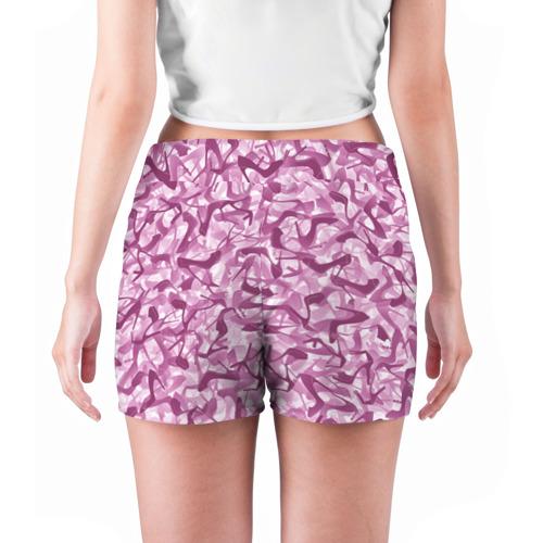 Женские шорты 3D  Фото 04, Розовый камуфляж с туфлями