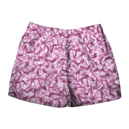 Женские шорты 3D  Фото 02, Розовый камуфляж с туфлями
