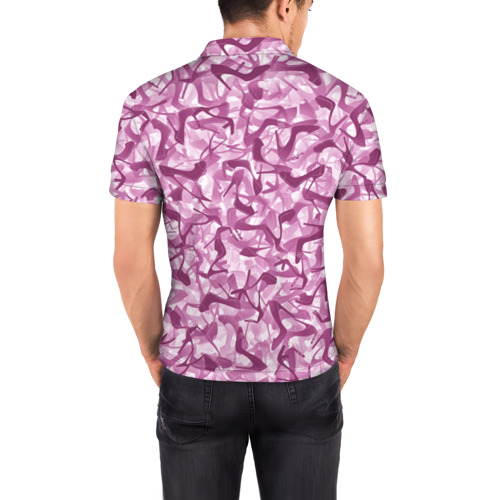 Мужская рубашка поло 3D  Фото 04, Розовый камуфляж с туфлями