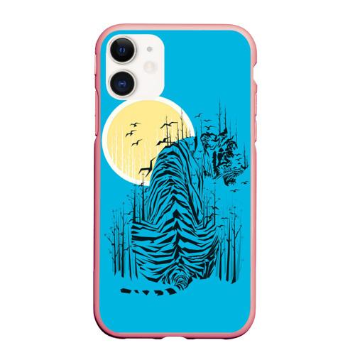Чехол для iPhone 11 матовый тигр Фото 01