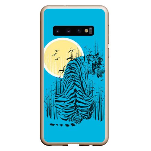 Чехол для Samsung Galaxy S10 тигр Фото 01