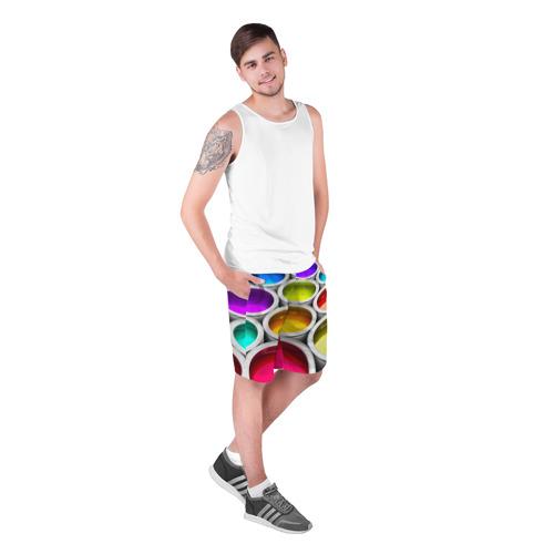 Мужские шорты 3D  Фото 03, Краски