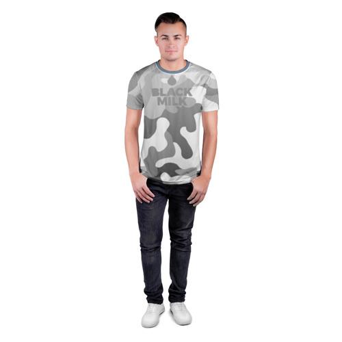 Мужская футболка 3D спортивная  Фото 04, Black Milk Серый Камуфляж