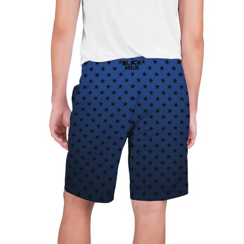 Мужские шорты 3D  Фото 02, Black Milk Blue Stars