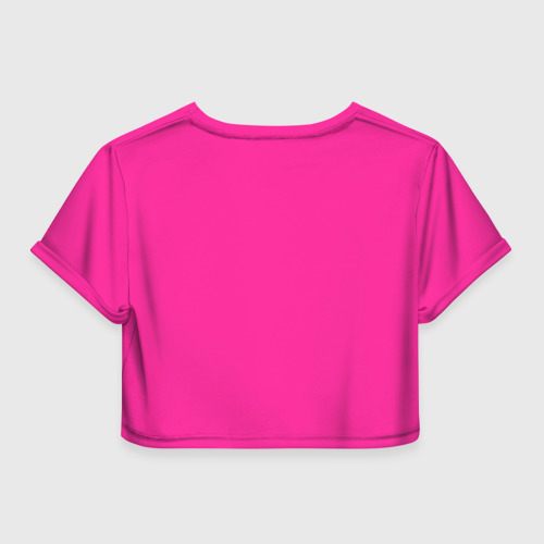 Женская футболка 3D укороченная  Фото 02, Барби